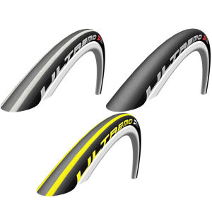 Schwalbe Ultremo ZX Clincher Road Tyre Black/White 700c x 23mm + FREE Inner Tube