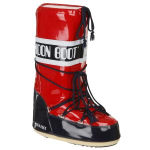 Moon Boot Women's Vinyl Boots - Red/Navy