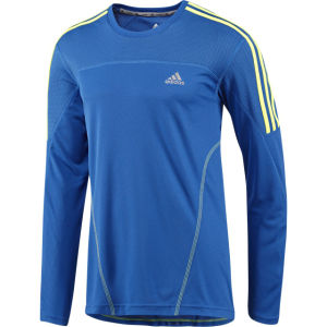 Adidas Men's Response Long Sleeve T-Shirt - Blue Beauty/Electricity