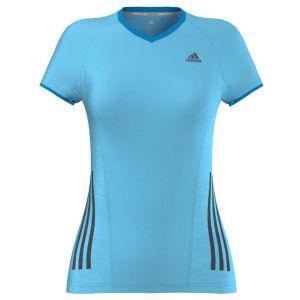 adidas Women's Supernova Short Sleeve Running Tee-Shirt - Samba Blue/Solar Blue
