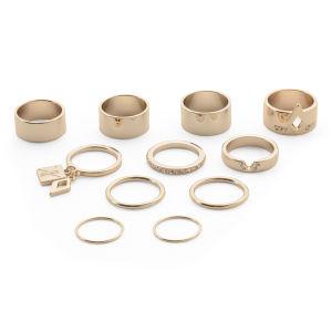 Kardashian Kollection KK 11 Piece Ring Stack Set - Gold