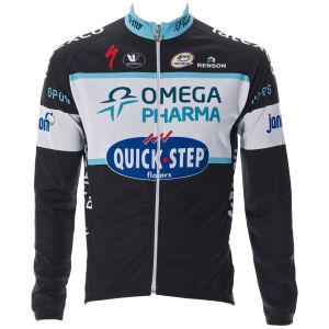 Omega Pharma Quickstep Team Replica Long Sleeve Jersey - Black 2014