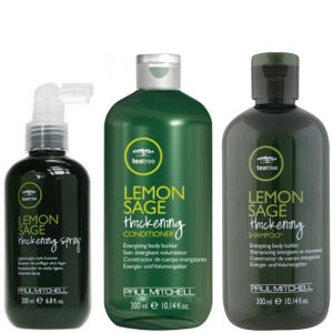 Paul Mitchell Teebaumöl Haarpflege Tea Tree Lemon Sage Trio- Shampoo, Conditioner & Thickening Spray