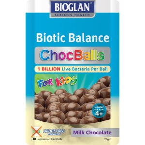Bioglan Biotic Balance ChocBalls for Kids - Milk (30 kugler)