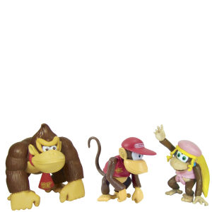 Super Mario Bros. Donkey Kong Mini Figures Three Pack - 5cm