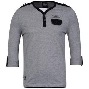 Benzini Men's Lendal Long Sleeve T-Shirt Grey Marl