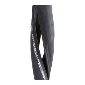 Vittoria Diamante Pro III Radiale Clincher Road Tyre Black 700c x 22mm + FREE Inner Tube