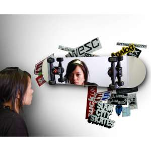 Skateboard Shaped Mirror