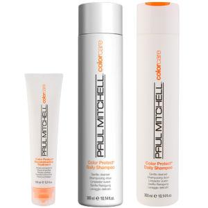 Paul Mitchell Colour Protect Trio- Shampoing, Après-shampoing & soin reconstructeur pour cheveux colorés