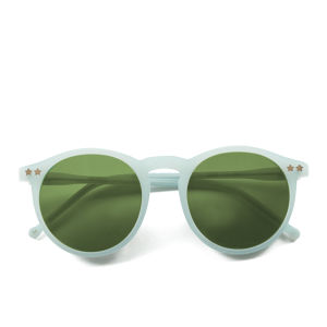 Wildfox Steff Deluxe Round Sunglasses - Mint Green/Green Mirror