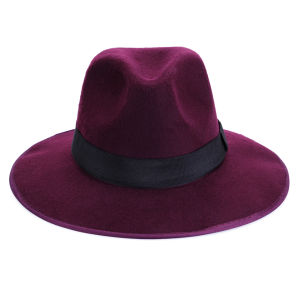 Impulse Women's Fedora Hat - Burgundy