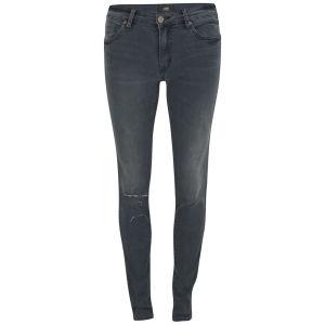 NEUW Women's Damned Low Rise Distressed Razor Skinny Jeans - Grey