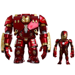 Vengadores La Era de Ultrón Cabezones Artist Mix Hulkbuster & Battle Damaged Iron Man