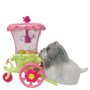 Zhu Zhu Pets Puppies - Push Along Flower Cart