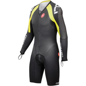 Castelli Body Paint 3.0 Long Sleeve Speed Suit - Black/Yellow Fluo