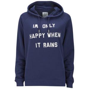 Zoe Karssen Women's Only Happy When It Rains Hoody - Blue