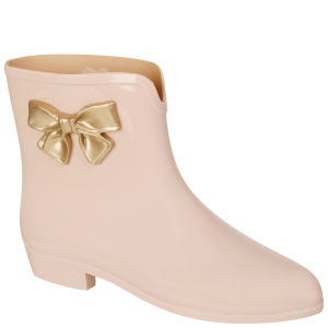 Mel Women's Bow Ankle Boots - Vanilla