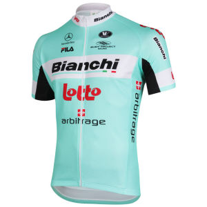 Bianchi Lotto Team Full Zipp SS Jersey - 2013