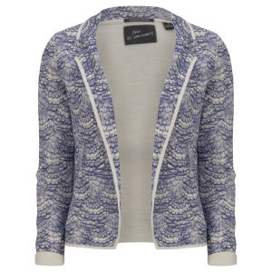 Maison Scotch Women's Printed Jersey Blazer - Blue