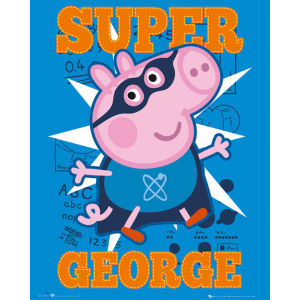 Peppa Pig Super George - Mini Poster - 40 x 50cm