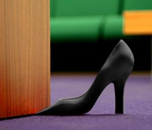 Foot in the Door - Black Stiletto