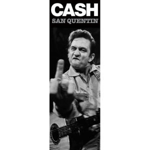 Johnny Cash San Quentin (Finger) - Door Poster - 53 x 158cm