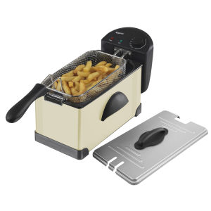 Elgento 3 Litre Stainless Steel Fryer - Cream
