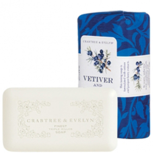 Jabón Vetiver & Juniperberry molido tres veces de Crabtree & Evelyn (158 g)