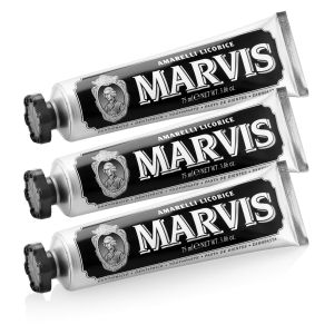 Marvis Amarelli Liquorice Mint Toothpaste Triple Pack (75ml 3개입)