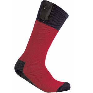 Outback Battery Heated Socks - Red