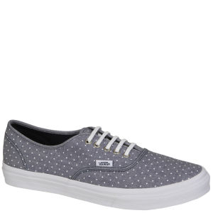 Vans Authentic Slim Chambray Dots Trainers - Dress Blue/White