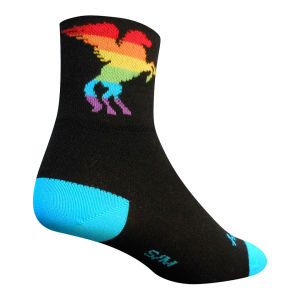 SockGuy Pegasus Rainbow Cycling Socks