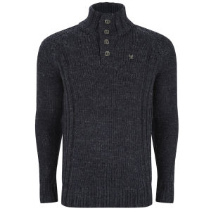 Ringspun Men's Tomales Funnel Knit - Navy Marl
