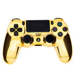 playstation dualshock 4 c3 pcontroller chrome gold games accessories zavvi. Black Bedroom Furniture Sets. Home Design Ideas