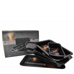 Hell's Kitchen 5pc Enamel Roast and Baking Set