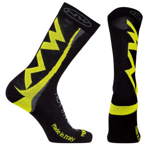 Northwave Extreme Winter High Socks - Black/Fluorescent Yellow