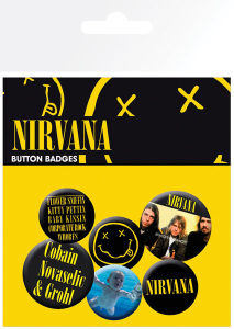 Lot de Badges Nirvana - Smiley