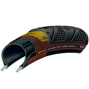 Continental Grand Prix 4Season Clincher Road Tyre Black 700c x 28mm + FREE Inner Tube