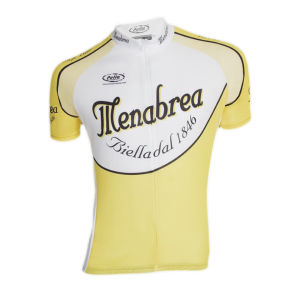 Pella Menabrea Short Sleeve Jersey - White/Yellow