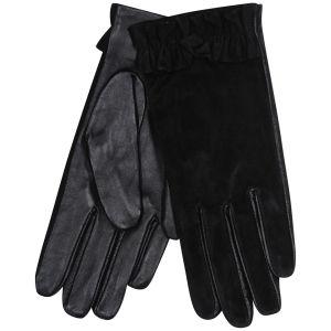 Women's Ruffle Cuff Gloves - Black