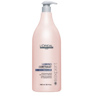 Loreal Serie Expert Lumino Contrast Shampoo (1500ml) and Pump
