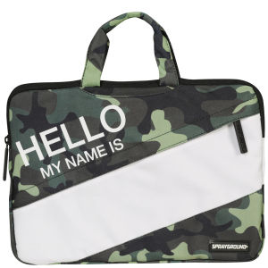Sprayground Hello My Name is 13 Inch Laptop Case - Green/Camo