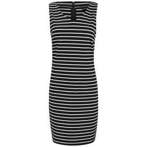 VILA Women's Tinny Striped Dress - Black
