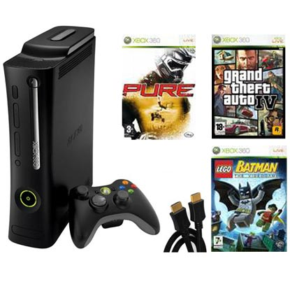 Xbox 360 Elite Console Bundle Including Gta Episodes From Liberty