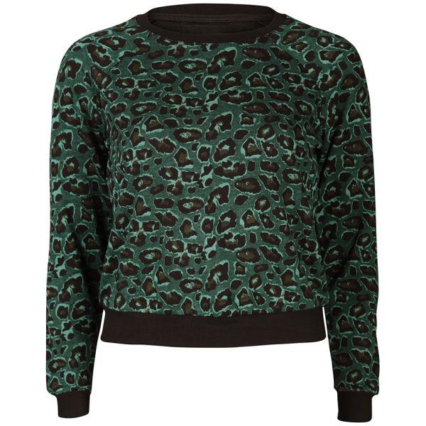 Baum und Pferdgarten Womens Elmar Sweater - Green Leopard