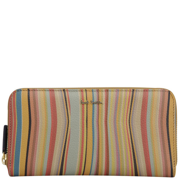 Paul Smith Accessories Large Zip Around Leather Wallet - Swirl