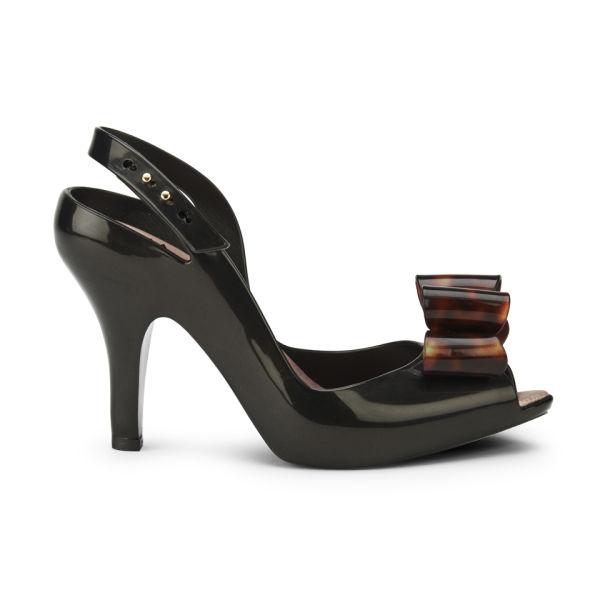 Vivienne Westwood for Melissa Women s Lady Dragon 12 Heels - Black Tortoiseshell  Bow  Image 9c5d8fa1f