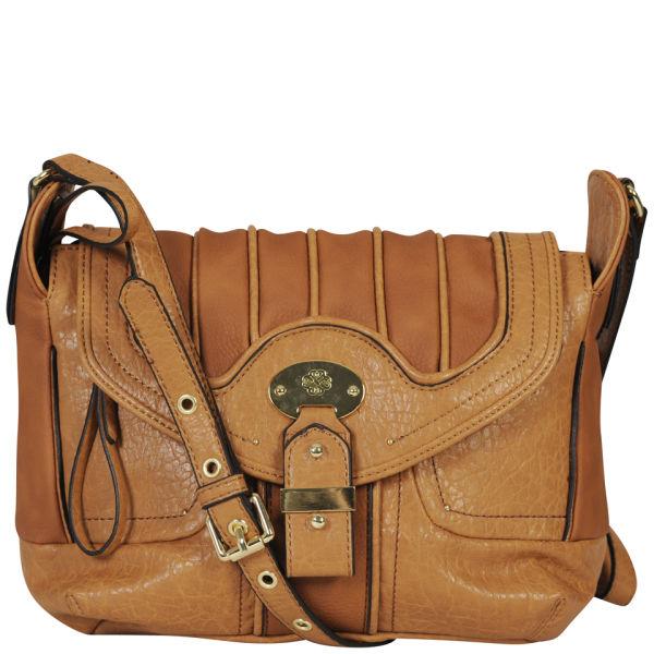Mischa Barton Jersey Large Cross Body Bag Tan Image 1