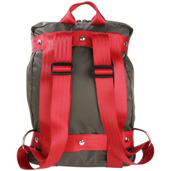 Bill Amberg Berlin Backpack Olive Red