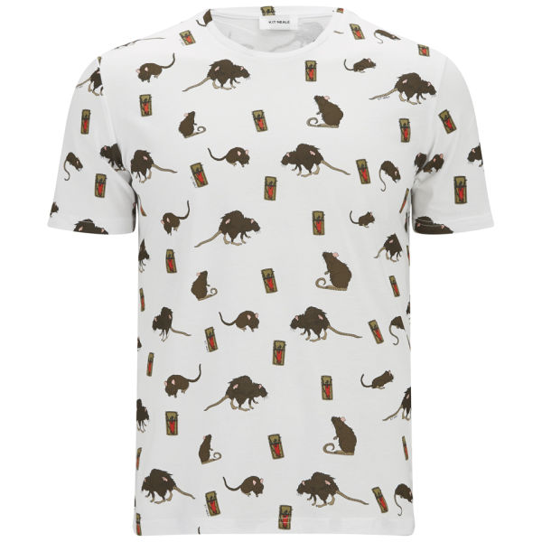 Kit neale men 39 s full digital print cotton t shirt white for Full t shirt printing